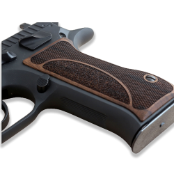 Jericho .45 Acp Model Compatible Walnut Grip for Replacement with Half Pattern
