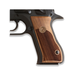 Jericho .45 Acp Compatible Walnut Grip for Replacement with Custom Letters on Brass