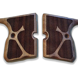 Kevin 9mm Model Compatible Walnut Grip for Replacement, with Diamond Checkered Pattern