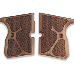 Kevin 9mm Model Compatible Walnut Grip for Replacement with Python Pattern