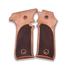 LLama Compatible Walnut Grip For Replacement with Diamond Checkered Pattern