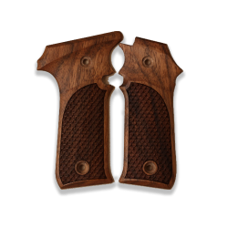 LLama Compatible Walnut Grip for Replacement with Python Pattern