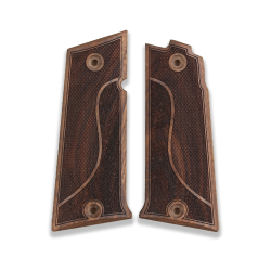LLama 45.Acp Model Compatible Walnut Grip for Replacement with Half Pattern