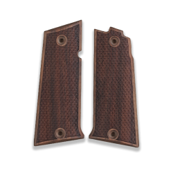 LLama 45 .Acp Model Compatible Walnut Grip for Replacement with Python Pattern