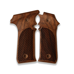LLama IIIA 7,65 Model Compatible Walnut Grip for Replacement, with Python Pattern