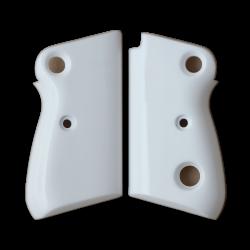Beretta 71 72 75 Jaguar Model Compatible White Acrylic Grip for Replacement (Crossbolt safety)