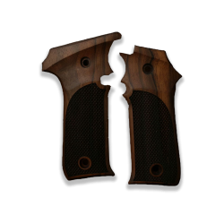 LLama IIIA 7,65 Model Compatible Walnut Grip for Replacement, with Diamond Checkered Pattern