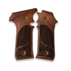 LLama IIIA 7,65 Model Compatible Walnut Grip for Replacement, (with Half Pattern)