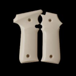 LLama IIIA 7,65 Model Compatible Ivory Acrylic Grip for Relacement