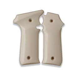 LLama 7,65 Model Compatible Ivory Acrylic Grip for Replacement