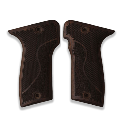 MAB D Model Compatible Root Walnut Grip for Replacement, with Half Pattern