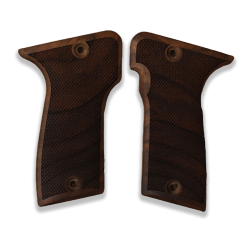 MAB D Model Compatible Walnut Grip for Replacement with Diamond Checkered Pattern