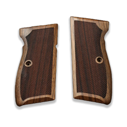 Mauser 90 DA Model Compatible Walnut Grip for Replacement with Diamond Checkered Pattern