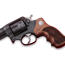 RUGER GP100 Model Compatible Walnut Grip for Replacement, (with Python Pattern and Silver Logo)