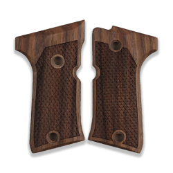 Beretta 92 Compact Model Compatible Walnut Grip for Replacement, with Python Pattern