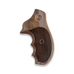 Ruger SP 101 Model Compatible (Name and Last Name's Letters) Walnut, Brass Grip for Replacement