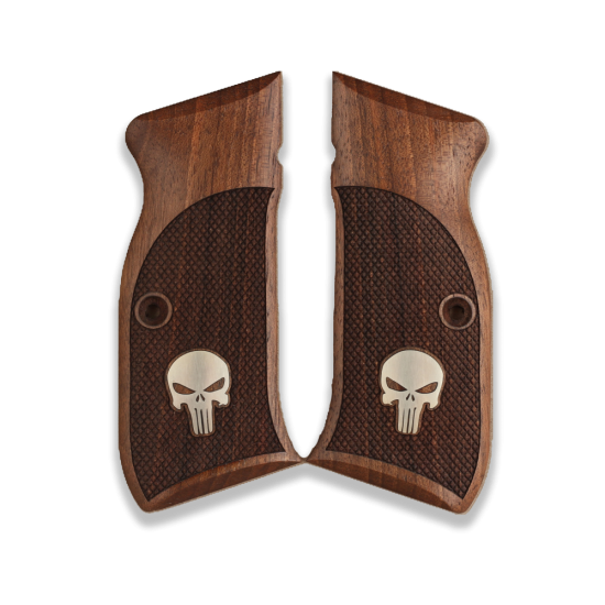 Sarsılmaz EAA Witness Model Compatible Walnut, Silver Grip for Replacement