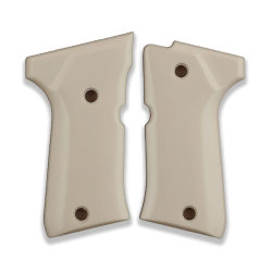 Beretta 92 Compact Model Compatible Ivory Acrylic Grip for Replacement