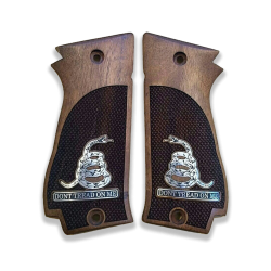 Sarsılmaz K2 45 Model Compatible Walnut Grip for Replacement (with Silver Figure)