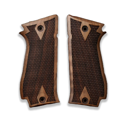 Sarsılmaz K2 45 Model Compatible Walnut Grip for Replacement (with Diamond checkered Pattern)