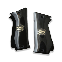 Sarsılmaz K2 45 model Compatible Black Acrylic Grip for Replacement (Your Name and Last Name on Brass Material)