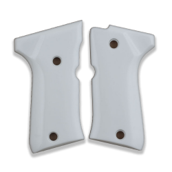Beretta 92 Compact Model Compatible White Acrylic Grip for Replacement