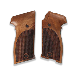 SIG P220 Model Compatible Walnut Grip for Replacement (with Diamond Checkered Pattern)