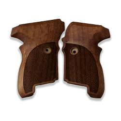 Sig Sauer P224 Model Compatible Walnut Grip for Replacement (with Diamond Checkered Pattern)