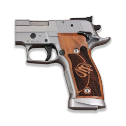 Sig Sauer P226 SAO / X-Five / X-Six Model Compatible Walnut Grip for Replacement (with Diamond Checkered Pattern)