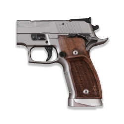 Sig Sauer P226 SAO / X-Five / X-Six Compatible Walnut Grip for Replacement (with thumb grip and Diamond Checkered Pattern)
