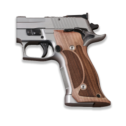 Sig Sauer P226 SAO / X-Five / X-Six Model Compatible Integrated Magwell Walnut Grip for Replacement (Diamond Checkered)