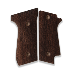 Beretta 92 S (Safety Lever Cut) Compatible Walnut Grip for Replacement