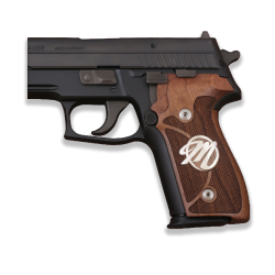 Sig Sauer P228 / P229 Model Compatible Walnut Grip for Replacement (Custom First Letter)