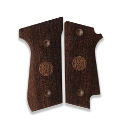 Beretta 92 S Model Compatible Walnut Grip for Replacement (with Safety Lever Cut)