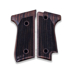 Beretta 92 S Model Compatible Walnut Grip for Replacement (with Diamond Checkered Pattern)
