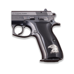 Sig Sauer P226 Model Compatible Black Acrylic Grip for Replacement (with Silver Eagle Figure)