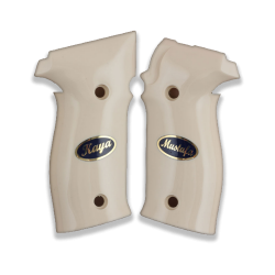 Sig Sauer P226 Model Compatible Ivory Acrylic Grip for Replacement (with Name and Last name)