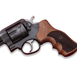 Ruger GP100 Model Compatible Walnut Grip for Replacement (with Python Pattern)