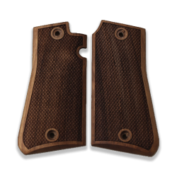 Astra 3000 Compatible Walnut Grip for Replacement with Diamond Checkered Pattern