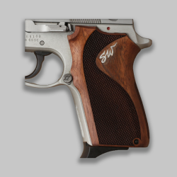 Smith Wesson 3913TSW Model Compatible Walnut, Silver Grip For Replacement