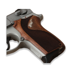 Smith Wesson 6906 Model Compatible Walnut, Silver Grip For Replacement