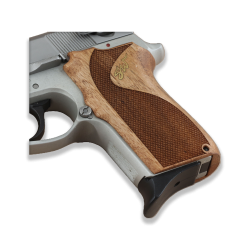 Smith Wesson 6906 Model Compatible Walnut, Brass Grip For Replacement