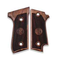 Beretta 92 S Grip With Safety Lever Recess Walnut Grip for Replacement