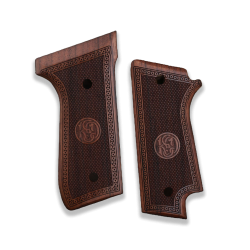 Beretta 92 S (Safety Lever Cut) Grip Walnut Grip for Replacement