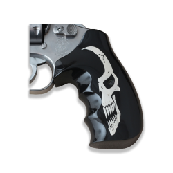 Smith Wesson .460 .500 X Frame Model Compatible Black Acrylic, Silver Grip For Replacement