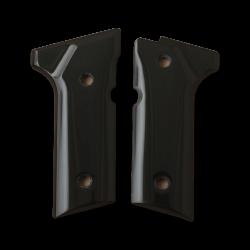 Beretta 92 Vertec / 96 Vertec / M9A3 Model Compatible Black Acrylic Grip for Replacement