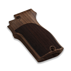 Unique 7,65 Model Compatible Walnut Grip for Replacement (with Diamond Checkered Pattern)