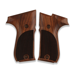 Walther P88 Compact Model Compatible Walnut Grip for Replacement, with Diamond Checkered Pattern