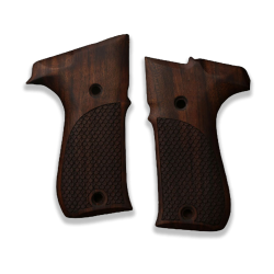 Walther P88 Compact Model Compatible Walnut Grip for Replacement (with Python Pattern)