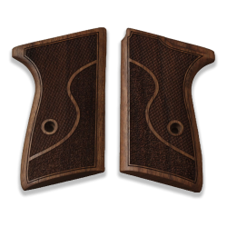 Walther PP Model Compatible Walnut Grip for Replacement, with Half Pattern